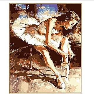 CZYYOU DIY Abstraktes Bild Elegantes Ballerina, Mädchen Handgemalte Olis Malen Nach Zahlen Zeichnen Auf Leinwand Digitale Färbung Geschenke, Ohne Rahmen, 40x50cm B07Q21FQR2  Keine Begrenzung zu üben