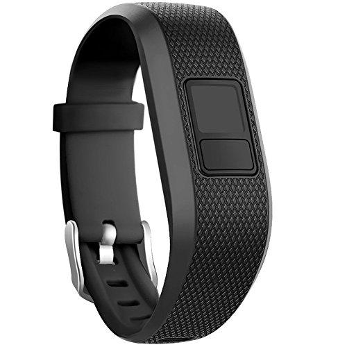 Tyogeephy Compatible con Garmin Vivofit 3 /JR/JR.2 Correa de Reloj, Bandas de Repuesto de Silicona Suave para Vivofit 3/JR/JR.2 Accessories Bracelet with Secure Watch Buckle