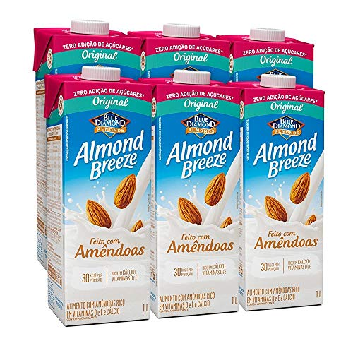 Kit Bebidas de Amêndoas Almond Breeze Zero 6x1L