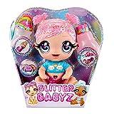 Glitter Babyz Muñeca Dreamia Stardust - Con 3 cambios de color mágicos, pelo rosa y vestido arcoíris - Incluye pañal, biberón y chupete reutilizables - Para coleccionar - Edad: 3+ años
