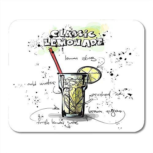 Künstlerische schwarze Cocktail-Hand gezeichnet mit Limonade-Skizzen-Art-Sammlungs-Zeichnungs-Stab-lustiger Druckspiel-Mausunterlage 30x25CM