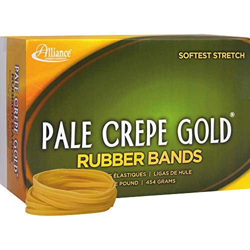 Alliance(R) Pale Crepe Gold� Rubber Bands In 1 Lb. Box, #32 3in. x 1/8in., Box Of 1100