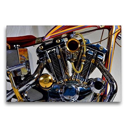 CALVENDO Premium Textil-Leinwand 75 x 50 cm Quer-Format Harley Classic Chopper, Leinwanddruck von Ingo Laue