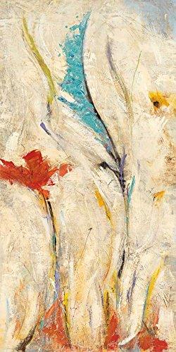 Feeling at home IMPRESION-sur-Papier-Flores-I-Santos-NancyVillarreal-Floral-Affiche-roulée-Fine-Art- pour-cadre-Poster-pour-décoration-murale-dimensions-115_X_57_cm