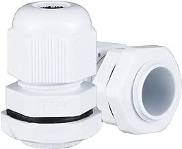 ZealMax 10 piezas PG9 impermeable Nylon Cable Glándula conector ajustable para 4mm-8mm Dia Cable