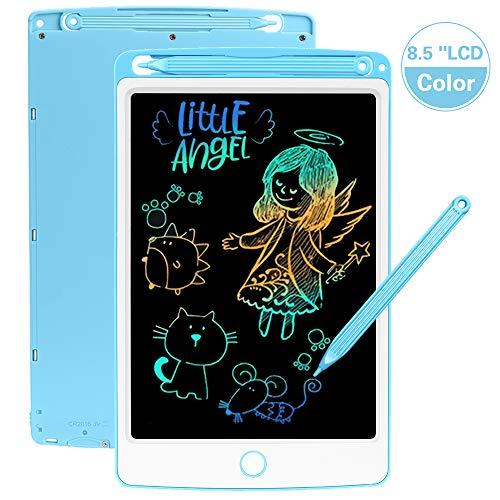 SCRIMEMO LCD Schreibtafel 8,5 Zoll Bunte hellere Schrift, LCD Writing Tablet Schreibtafel für Kinder, Stift Papierlos für Schreiben Malen Notizen Super als Geschenke (Blau)