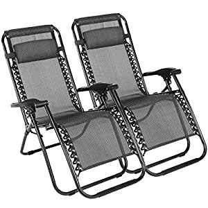 Superworth Set Of 2 Zero Gravity Chairs - Black