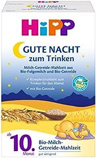 HiPP 喜宝 晚安牛奶麦片粉,膳食, 4盒(4 x 500克)