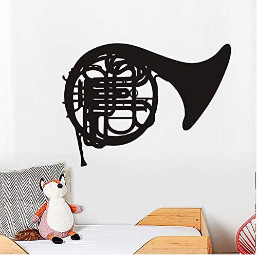 Muursticker huisdecoratie voor woonkamer muurstickers Vinyl Art muurstickers lijm hoorn instrument 59X43Cm