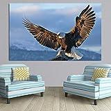 Blauer Himmel Fliegende Adler Tiere Poster Drucken Leinwand