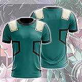 Été 3D Print Shirt T-Shirt - My Hero Academy Green Valley Iku Unisexe Undershirt Casual Manches Courtes Sweat-Shirt Classique Tops Cou Top- Cadeaux Teen A-M