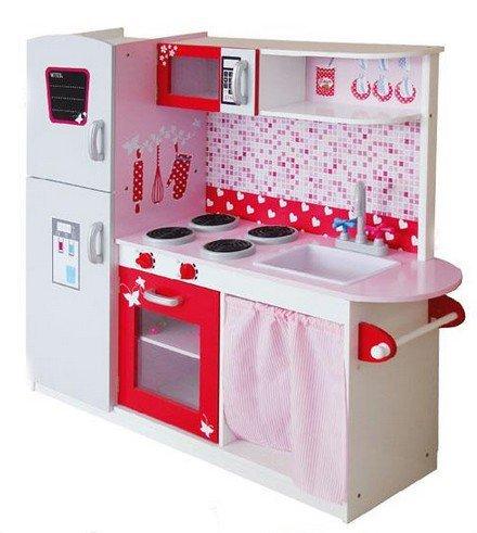 Best For Kids Juego de cocina de cocina infantil madera Deluxe–Juego de cocina de madera azulejos w10C037BB