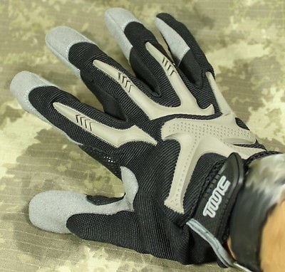 TMC Airsoft Tactical Gloves Black Tan Pro Impact M Medium Knuckle Protector