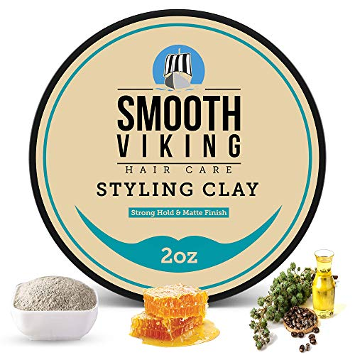 Hair Clay For Men | Smooth Viking Clay Pomade for...