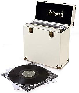 Lwieui Caja de Almacenamiento de CD Discos de Vinilo de Almacenamiento de CD Box Casos for Radio Plataforma de Almacenamie...
