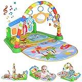 Baby Play Mat Activity Gym with Kick Piano Keyboard, Baby Jungle Gym Mat
