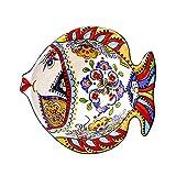 Yamyannie Tazones de Ensalada Ensalada con Forma De Pescado Europea Hogar Creativo Postre En Forma De Cuenco del Cuenco De Fruta Tazones de Consomé (Color : Red, Size : 8inch)