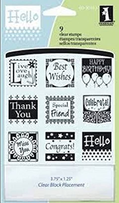 Inkadinkado Inchies Clear Stamps: All Occasions