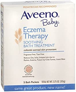 Aveeno Baby Eczema Therapy Soothing Bath Treatment, Single Use Packets 5 ea