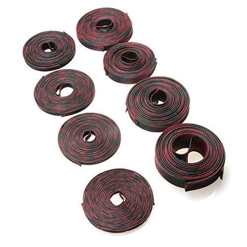 5/10 m de aislamiento rojo y negro trenzado mangas 4/6/8/10/12/15/20/25 mm de PET ajustado expandible cable de protección 5 m 20 mm
