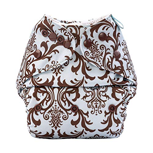 Bumberry Baby Pocket Cloth Diaper Adjustable Size Washable with 1 Wet Free Insert (Blue Brown Royal, 6 to 36 Months)