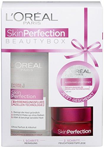 L'Oreal Paris Skin Perfection Mizellen Reinigungsfluid und Feuchtigkeitspflege, 1 Geschenkset: strahlender Teint