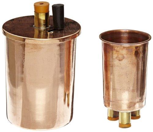 EISCO Copper Polished Calorimeter Set, 75mm Diameter x 100mm Height