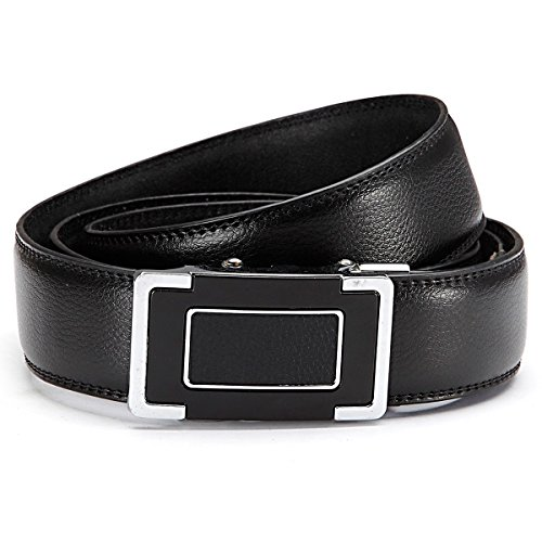 GIL-Design grille automatique 6013–2 ceinture en cuir noir - Noir - 105 cm