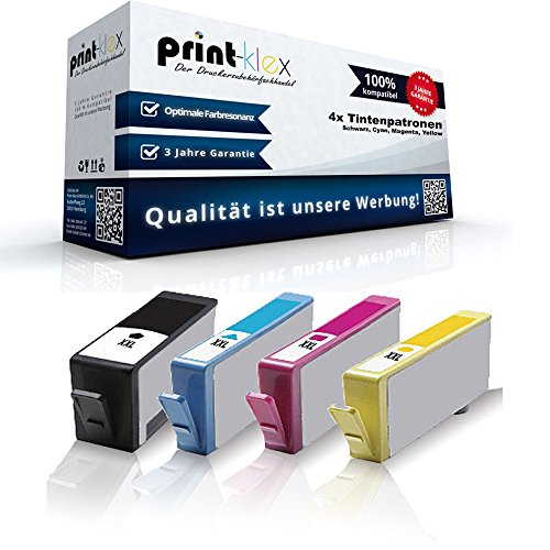 Print-Klex compatibele cartridges (met chip) voor HP 364 XL Deskjet 3070a D5445 D5460 Officejet 4610 4620 4622 Photosmart 5510 5514 5515 6510 7510 e-All-in-One, Photosmart HP364
