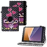 UC-Express Tablet Schutzhülle kompatibel für Vodafone Tab Prime 6 Hülle Tasche Universal Cover Hülle aus Kunstleder Standfunktion 360° Drehbar, Farben:Motiv 4