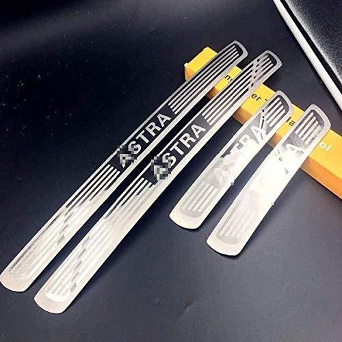 4pcs Placas Protectoras del Protector del umbral de la Puerta Exterior del Coche para Opel 2010-2019, Accesorios para automóviles de Acero Pedal de la Cubierta del umbral