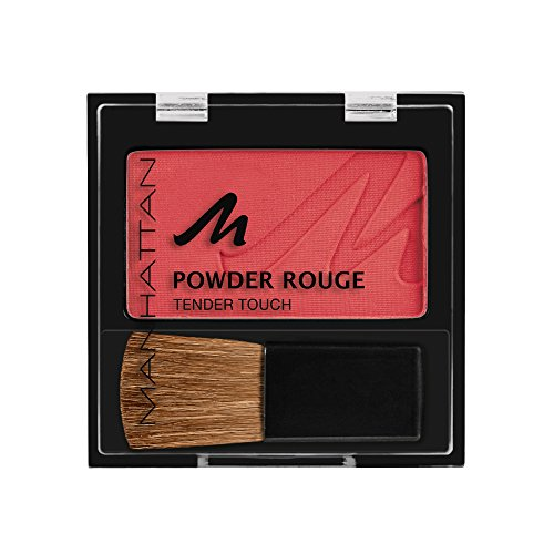 Manhattan Powder Rouge, Rotes Blush mit Puder Textur und beiliegendem Pinsel, Farbe Hot In Here 59W, 1 x 5g