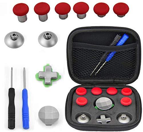 CARYWON Kit de Botones de Reemplazo para PS4 / Xbox One Elite Joystick Controlador de Juegos Mini Joystick Móvil Perno para el Pulgar Conjunto de Kits de Reparación Portátiles con Estuche de Tela