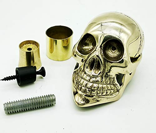 Replica Warehouse Designer Solid Brass Skull Head Handle for Walking Stick Canes Shaft