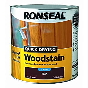 Ronseal Quick Drying Woodstain Teak Satin 2.5L