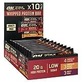 Optimum Nutrition Whipped Bar, Barritas Proteínas con Cobertura de Chocolate con Leche, Bajo en Azúcar, Mixed Sabores, 10 Barras, 612 g