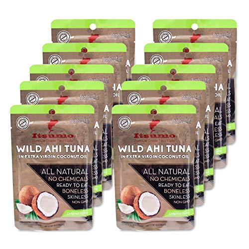 Itsumo Foods Wild Ahi Tuna Packets - Ready to Eat Sashimi Grade Ahi...