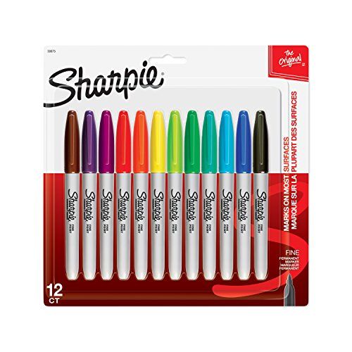 Sharpie 12pk Permanent Markers Fine Multicolor
