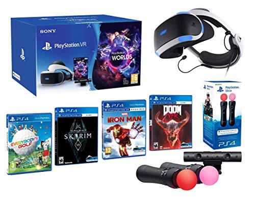 PlayStation VR2 [MegaPack]: Skyrim + Doom + Everybody's Golf + Iron Man + VR Worlds + 2 Mandos Twin Move Controllers