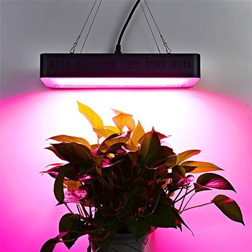 Kacsoo 1000 W datum, 24 uur geheugen-LED-timerlicht met dubbele schakelaar Veg- en Bloom, ventilator, volspectrum voor plantengroei, lamp met daisy chain voor kamerplanten, veg en bloem Version normale 1500 W