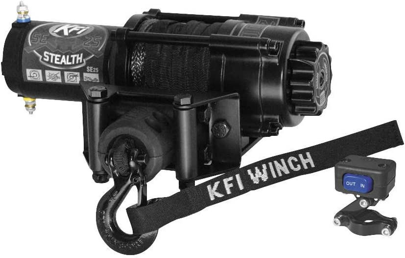 New KFI Stealth Edition 2500 lbs. Free Shipping Winch Rope Model Synthetic Max 85% OFF