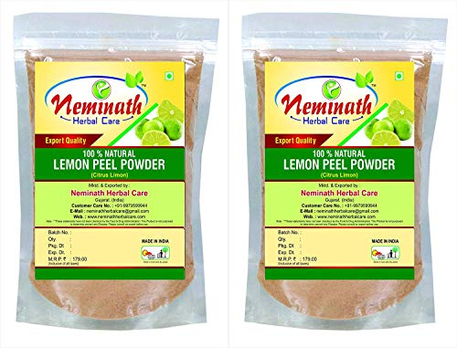 Lemon Peel (Citrus Limon) Powder(Pack Of 2) Each 100 gm (3.52 OZ)