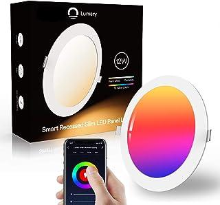 Downlight Led Techo Inteligente Ultrafina 12W 960LM Lumary LED Empotrable Techo con Caja de Conexiones Controlada por APP...