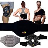 Ice Packs for Injuries Reusable Gel - Flexible Hot/Cold Wraps, Back Pain Relief Products, Microwave & Freezer Safe, Knee Pain Relief, Heating Pads for Cramps - Knee Ice Pack Wrap - with Long Straps