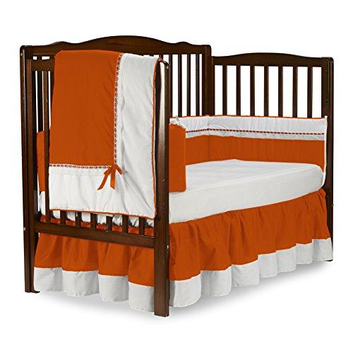 Baby Doll Bedding Royal Crib Bedding Set, Orange