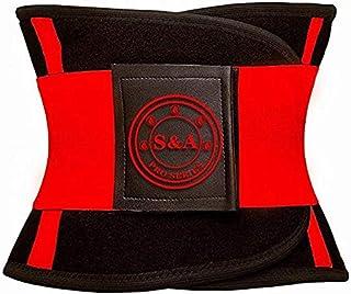 S&A Waist Trainer Women and Men - Waist Cincher Trimmer - Slimming Body Shaper Belt - Sport Girdle Belt Product.