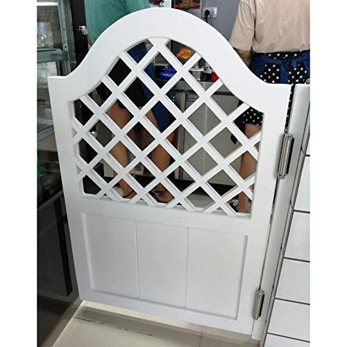 CAIJUN Swinging Doors Cafe Doors Solid Wood Single Partition Door Two-Way Open Automatic Closure Bar Entrance Door, 4 Styles, Custom Size (Color : B, Size : 60x90cm)