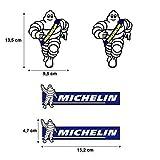 PEGATINA ADHESIVO MICHELIN IMPRESION DIGITAL ALTA CALIDAD COCHE MOTO (4 unidades) MOD 1