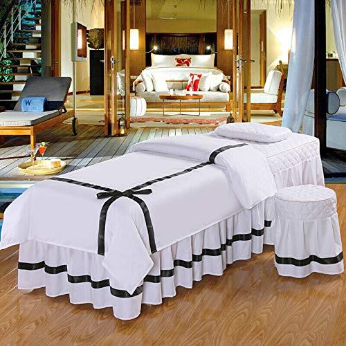 KE & LE Katoen Effen Kleur Schoonheid Massage Tafelblad Sets, Fysieke Therapie Percale Zijdeachtige Bedsprei Bed Cover Hoeslaken Aanpasbaar