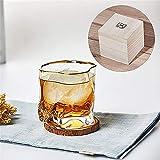WSYGHP Bonitos vasos de cristal, clásico torcido, diseño creativo de forma irregular, buena relación calidad-precio, buenos regalos para Navidad, 300 ml-White3 vaso de whisky (color: blanco2)